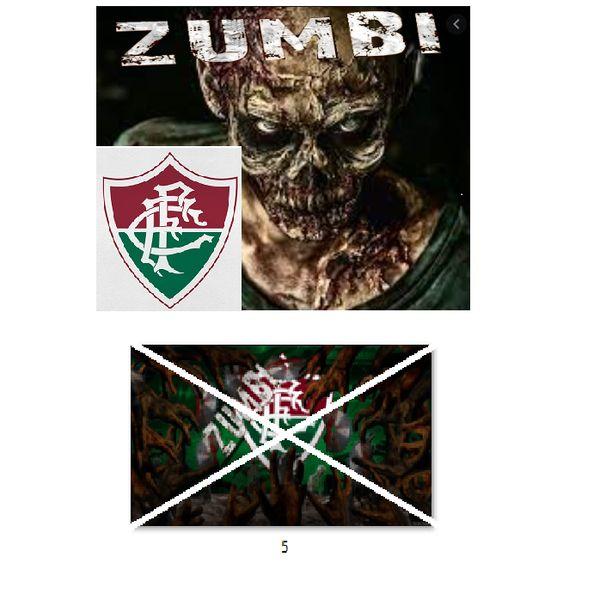 Imagem principal do produto Fluminense zumbi foto para estampar camisetas 5