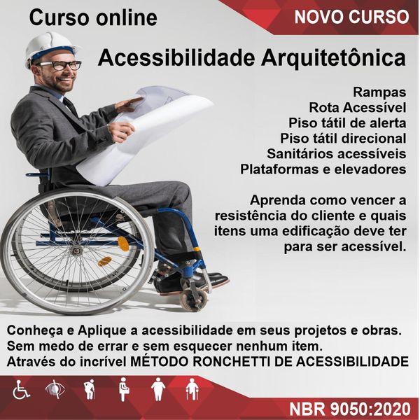 Imagem principal do produto Curso online de Acessibilidade Arquitetônica
