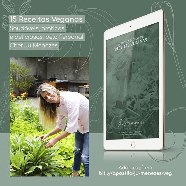 Imagem principal do produto Apostila de Receitas Veganas Ju Menezes Personal Chef