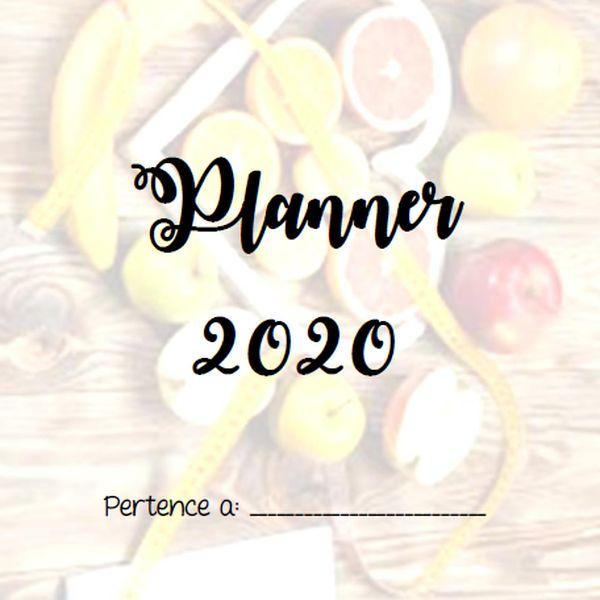 Planner de Estudos do ano 2020, Tema Nutrição  | Hotmart