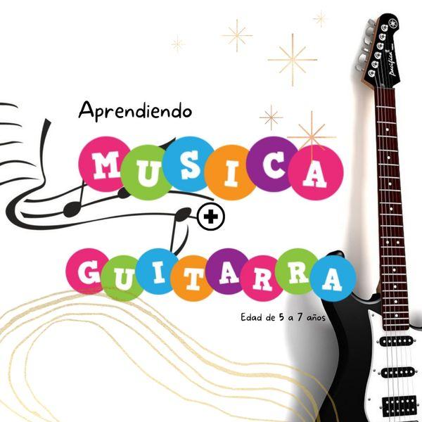 Imagem principal do produto Aprender guitarra para niños - Material didactico