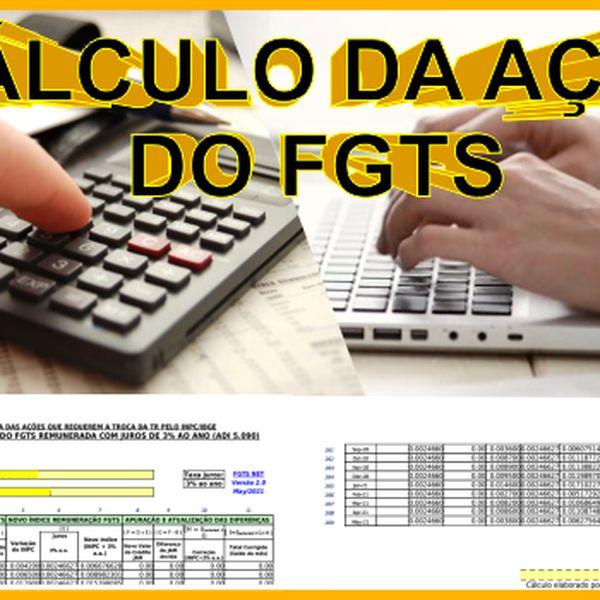 Imagem principal do produto CÁLCULO DA AÇÃO DO FGTS - Entrega em Minutos
