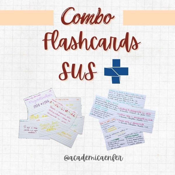 Imagem principal do produto Combo Flashcards SUS
