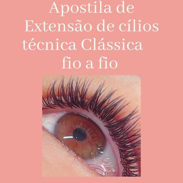 Imagem principal do produto APOSTILA DE EXTENSÃO DE CÍLIOS TÉCNICA CLÁSSICA FIO A FIO