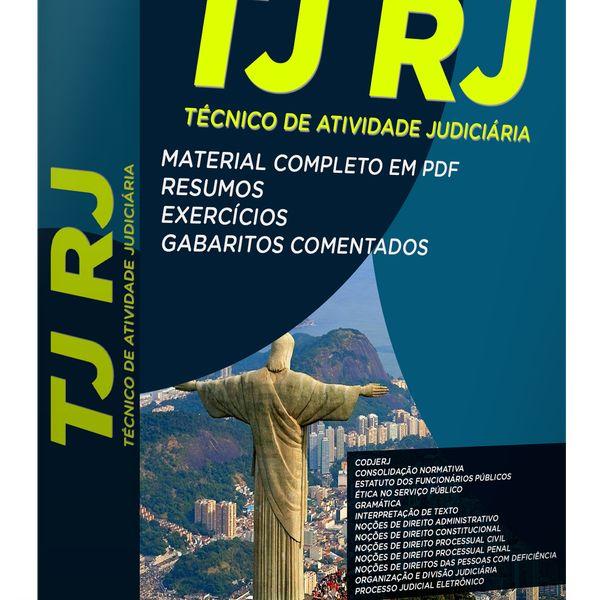 Imagem principal do produto Curso Completo de Técnico de Atividade Judiciária para o TJ RJ
