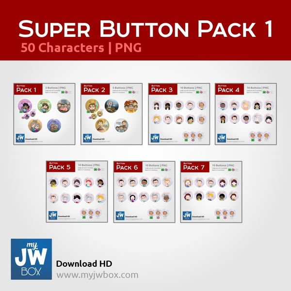 Imagem principal do produto Buttons em PNG - ButtonSUPERPACK0001
