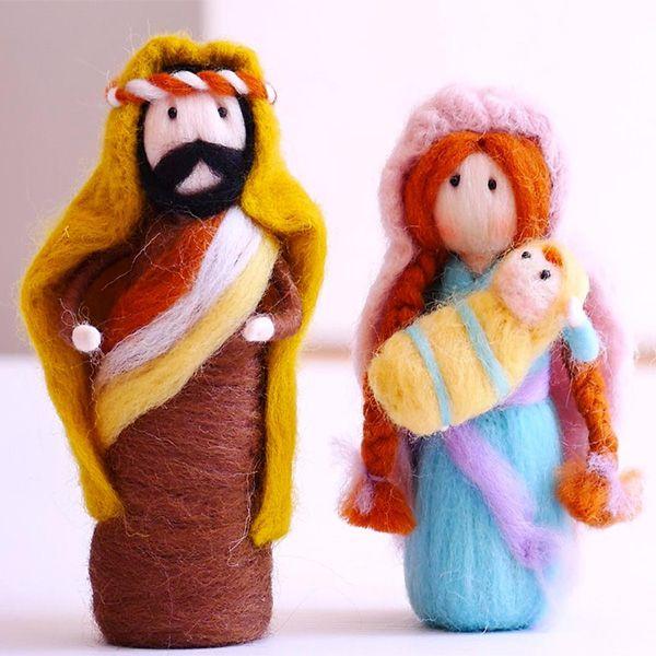 Imagem principal do produto Curso virtual La Sagrada Familia - Pesebres en fieltro agujado