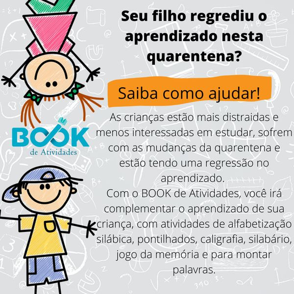 Imagem principal do produto BOOK de Atividades Sílabas Simples