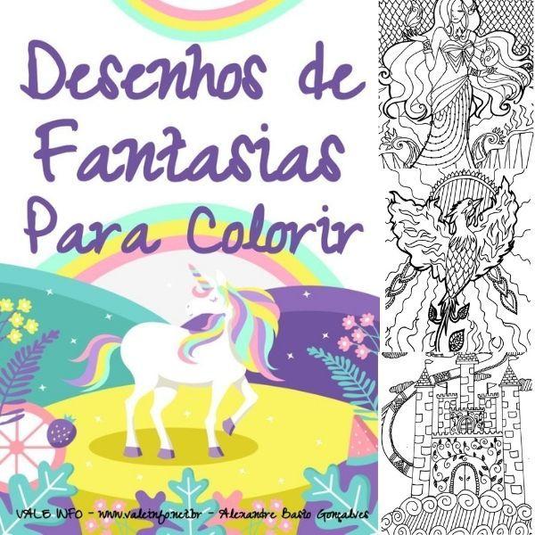 Imagem principal do produto DESENHOS DE FANTASIAS PARA COLORIR