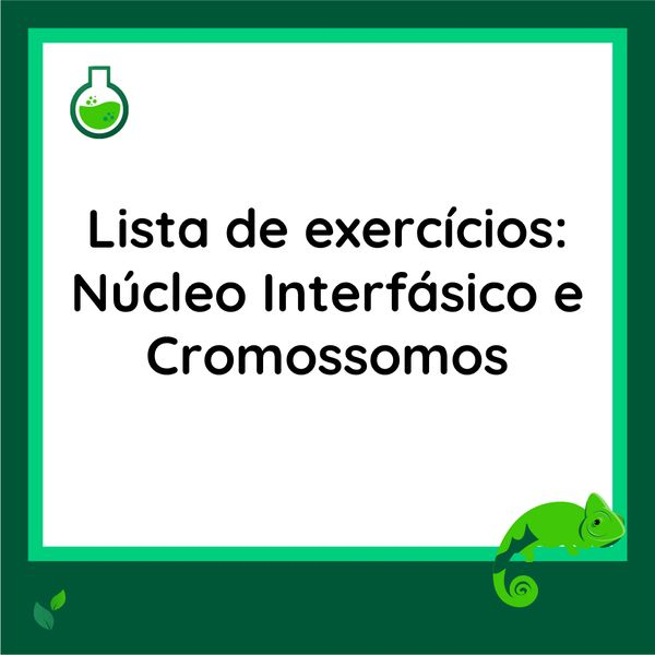 Imagem principal do produto Lista de exercícios - Núcleo Interfásico e Cromossomos