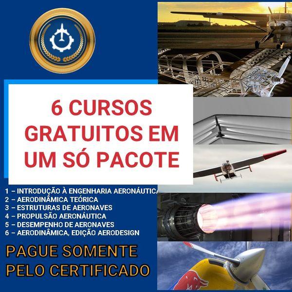 Imagem principal do produto 6 Cursos GRATUITOS de Engenharia Aeronáutica!