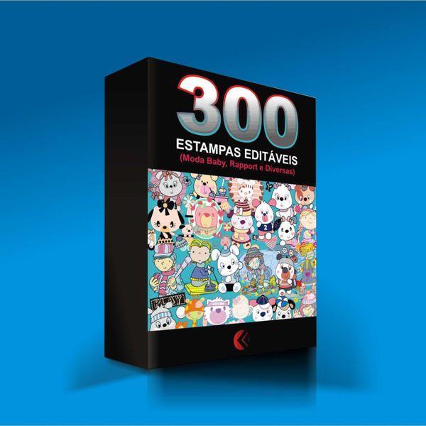 Imagem principal do produto 300 Estampas Editáveis no Corel Draw