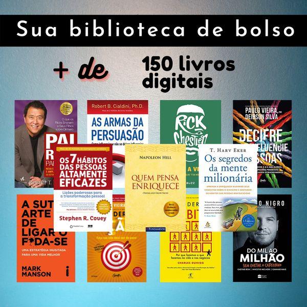 Imagem principal do produto + de 150 Livros Digitais