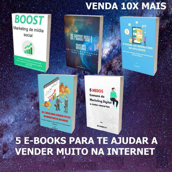 Imagem principal do produto 5 E-BOOKS PARA TE AJUDAR A VENDER MUITO NA INTERNET - VENDA 10X MAIS