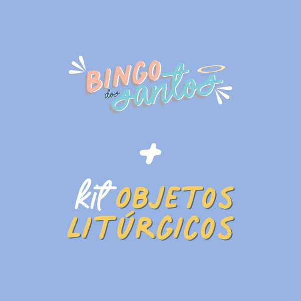 Imagem principal do produto Bingo dos Santos + Kit Objetos Litúrgicos