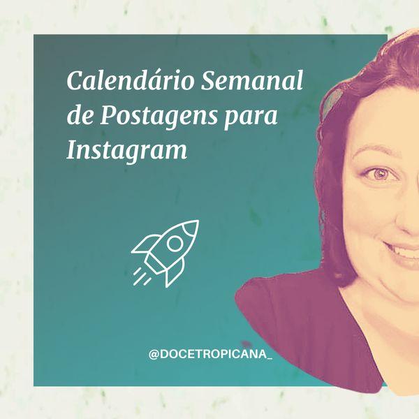 Imagem principal do produto Calendário Semanal Postagens Instagram
