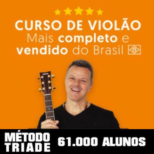 Imagem principal do produto Curso de Violão Método Tríade COMPLETO - Heitor Castro
