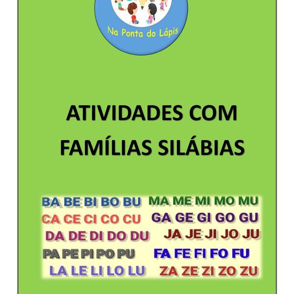 Imagem principal do produto ACERVO - ATIVIDADES COM FAMÍLIA SILÁBICA