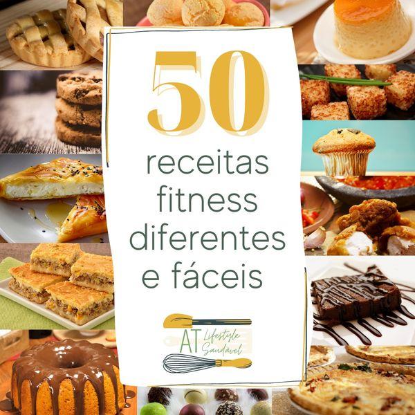 Imagem principal do produto 50 receitas fitness diferentes e fáceis