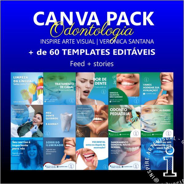 Imagem principal do produto Canva Pack Odontologia +60 templates editáveis