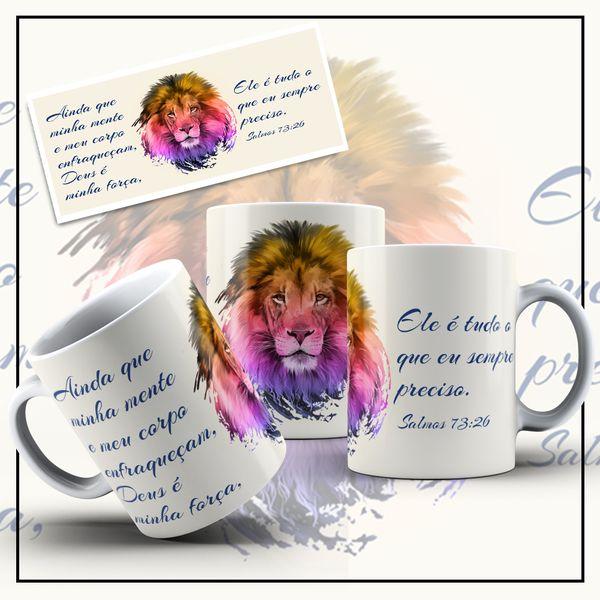Imagem principal do produto Arte Digital para Canecas - Salmos Bíblicos