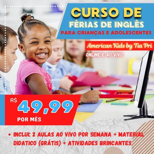 Imagem principal do produto Curso de inglês de férias para Crianças