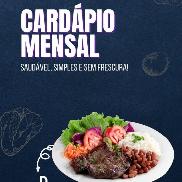 Imagem principal do produto E-BOOK - Cardápio Mensal Saudável
