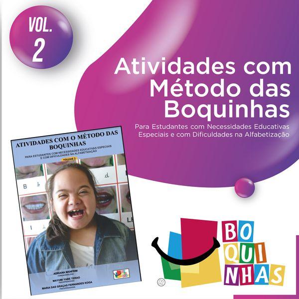 Imagem principal do produto Atividades Boquinhas - Volume 2 - crianças com necessidades especiais