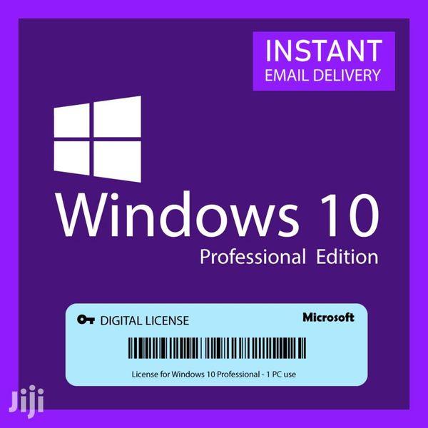 Imagem principal do produto chave de ativação do Windows 10 pro 32/64  bits original vitalícia