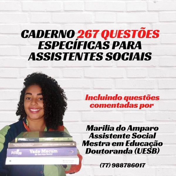 Imagem principal do produto CADERNO DE QUESTÕES - 267 QUESTÕES ESPECÍFICAS PARA ASSISTENTES SOCIAIS
