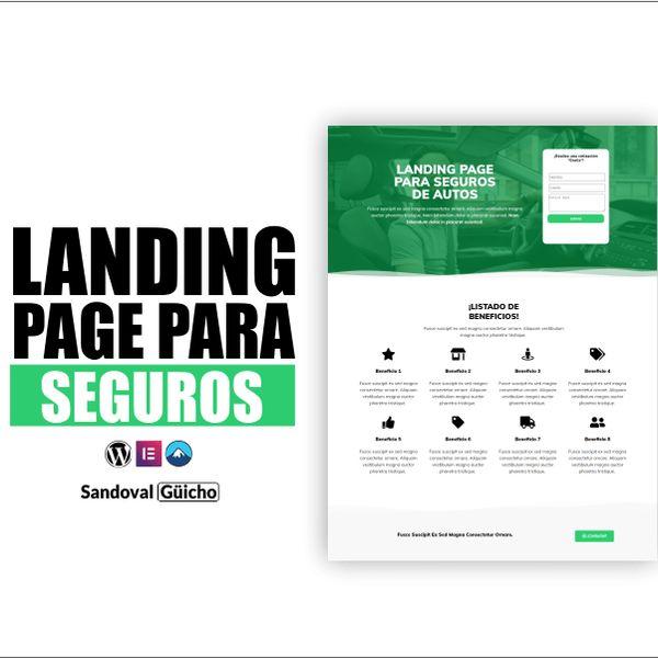 Imagem principal do produto 12-. 👉 Landing Page para: Seguros de Autos  - Compatibles para WordPress y Elementor.