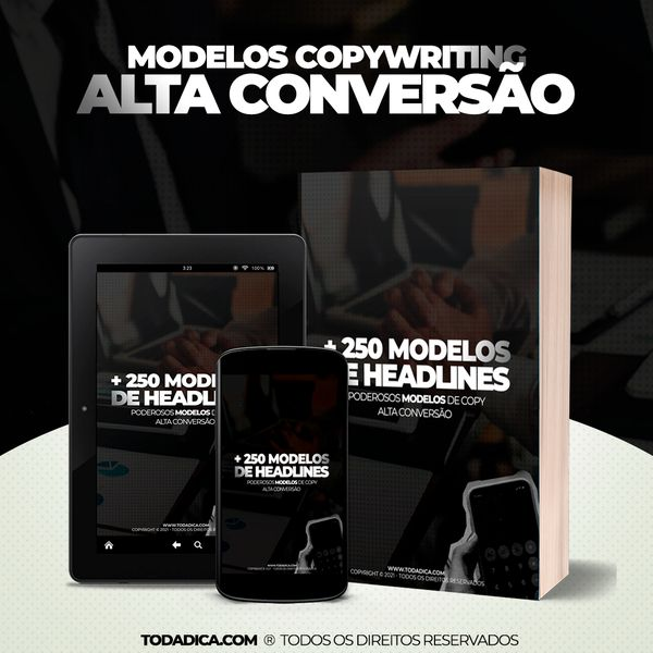 Imagem principal do produto E-book 300 Copys de Alta Conversão