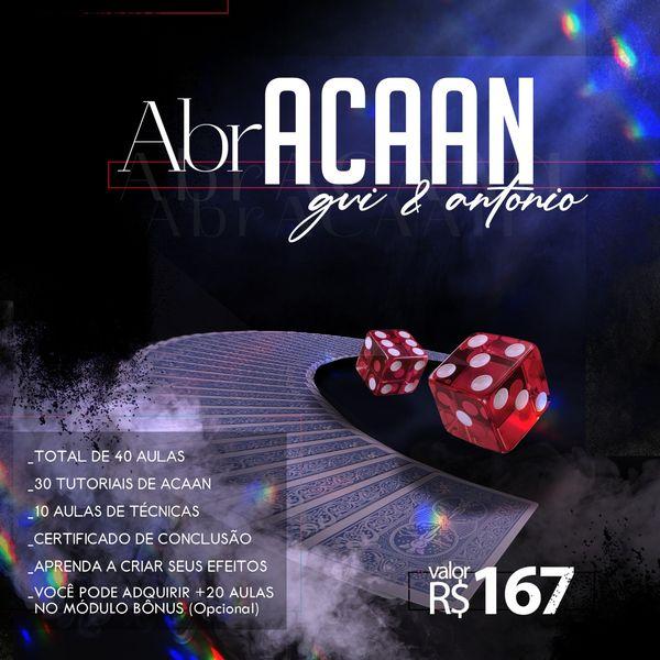 Imagem principal do produto AbrACAAN (Carta ao Número)- Curso de Acaan