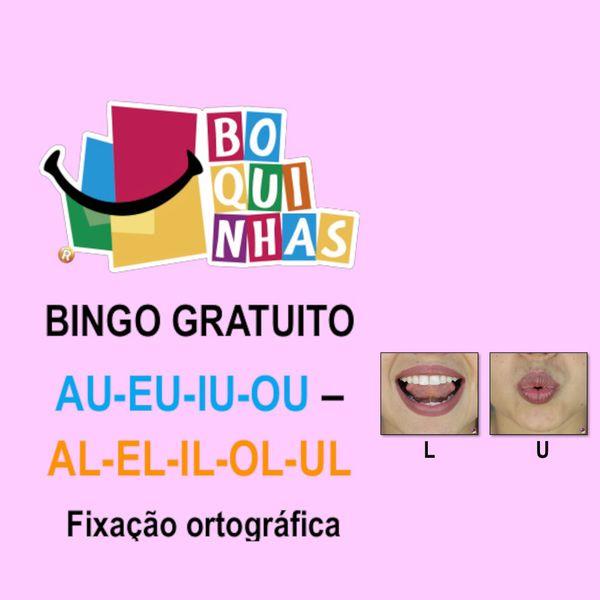 Imagem principal do produto BINGO DE AU-EU-IU-OU – AL-EL-IL-OL-UL Fixação ortográfica