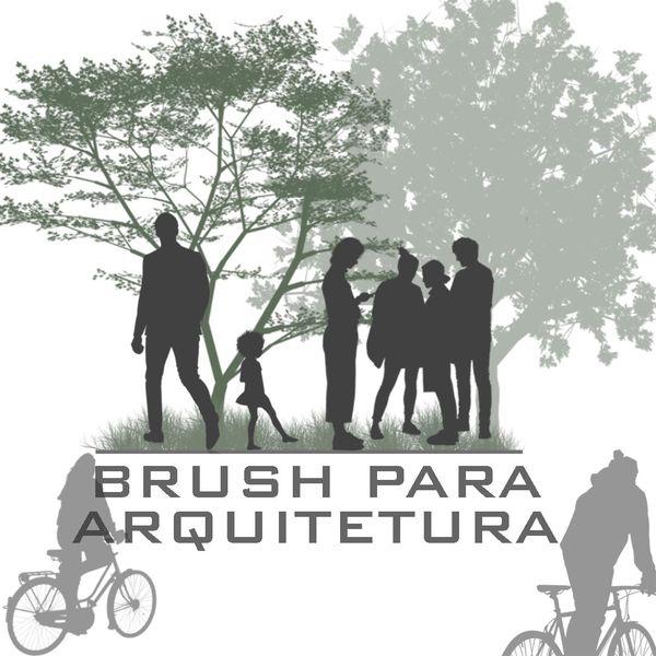 Imagem principal do produto Brush (pincéis) para arquitetura!