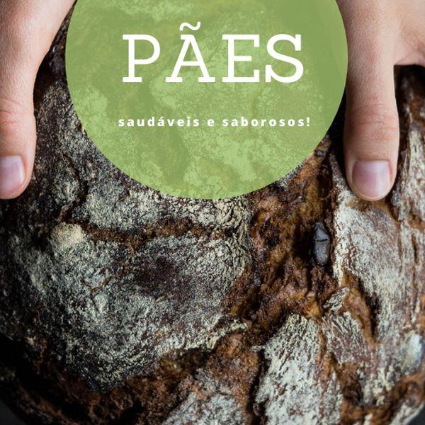 Imagem principal do produto E-book Pães saudáveis e saborosos!