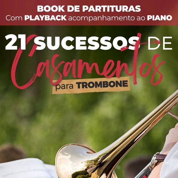 Imagem principal do produto Book de Partituras para Casamento - Trombone - Volume 1