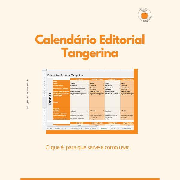 Imagem principal do produto Calendário Editorial Tangerina 2021/ 2022