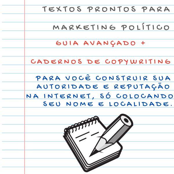 Imagem principal do produto Eleição 2022 - Guia AVANÇADO de COPYWRITING para Marketing Político Campanha e Propaganda Eleitoral - 12x SEM JUROS