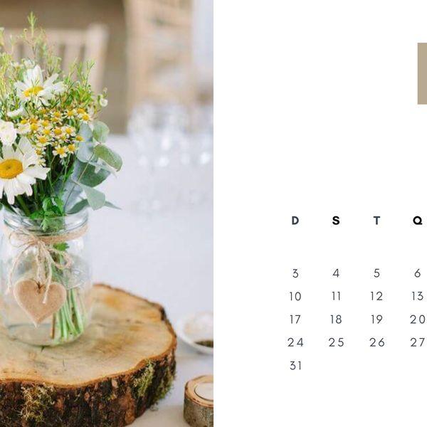 Imagem principal do produto Calendário de Mesa 2021 - Flores