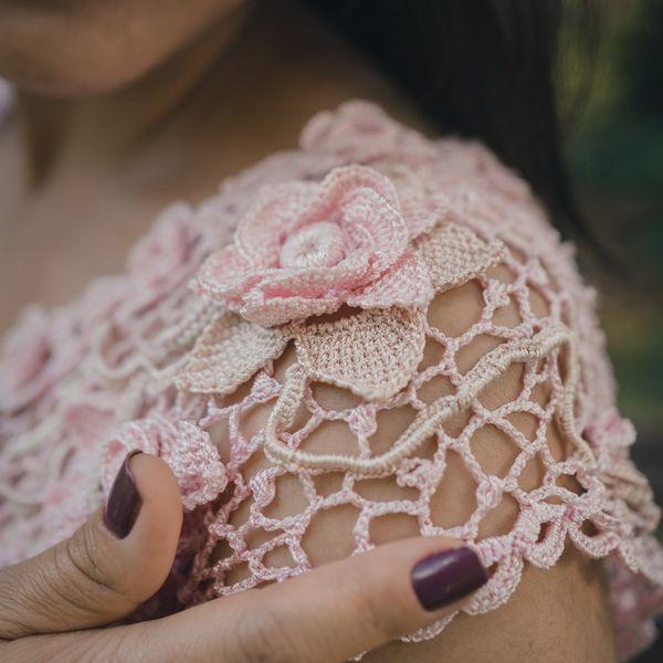 Imagem principal do produto Curso de Crochê Irlandês do Zero