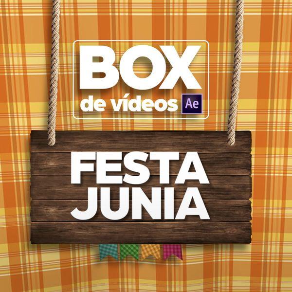 Imagem principal do produto Box de Vídeos para Festa Junina After Effects