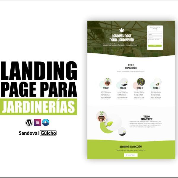Imagem principal do produto 8-. 👉 Landing Page para Jardinerías y Florerías - Compatibles para WordPress y Elementor.