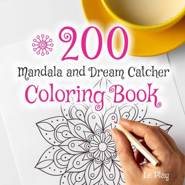Imagem principal do produto Livro para Colorir 200 Mandalas e Filtro dos Sonhos - Controle de Stress - Controlando a ansiedade.