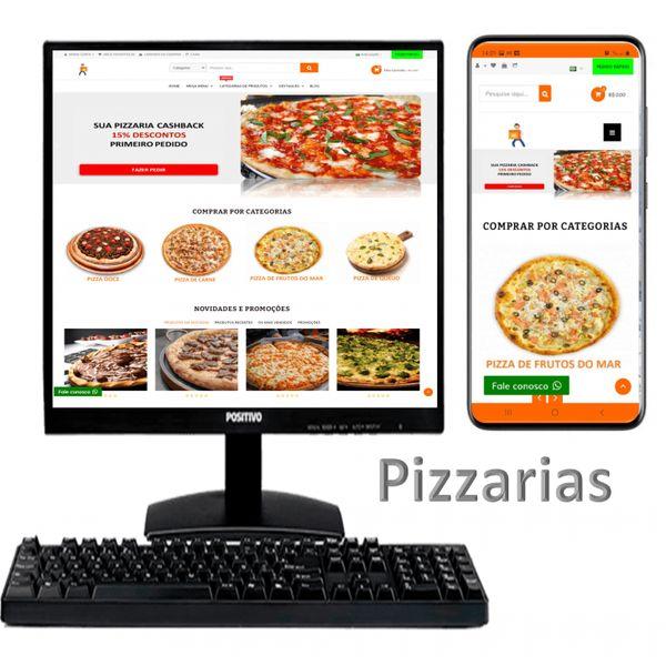 Imagem principal do produto Assinatura Loja Pizzaria Aluguel Aplicativo e Site SaaS Cashback