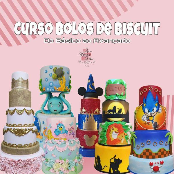 Imagem principal do produto CURSO BOLOS DE BISCUIT - DO BÁSICO AO AVANÇADO