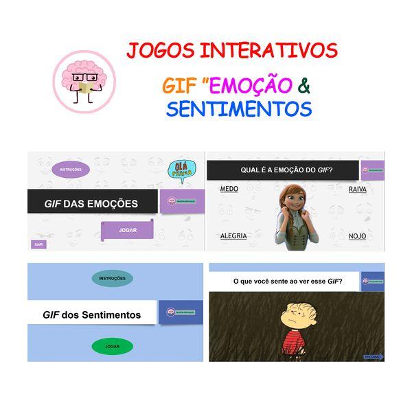 """Imagem principal do produto COMBO Jogos GIFs """"Emoções & Sentimentos"""""""