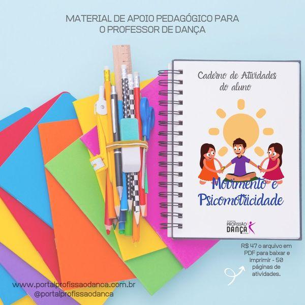 Imagem principal do produto Caderno de Atividades - Movimento e Psicomotricidade