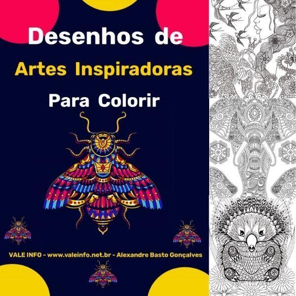 Imagem principal do produto DESENHOS DE ARTES INSPIRADORAS PARA COLORIR