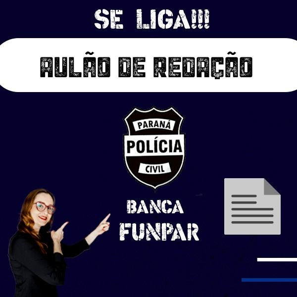 Imagem principal do produto Aulão Redação PCPR - Funpar